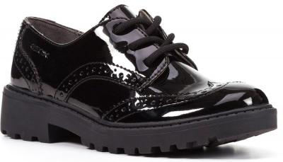Geox J Casey Girl J6420N -  Black Patent