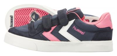 Hummel Stadil Jr Canvas Lo -  Dress Blue/Knockout Pink