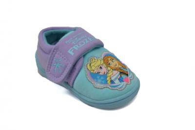 Disney Frozen Flower Badge Slipper -  Aqua