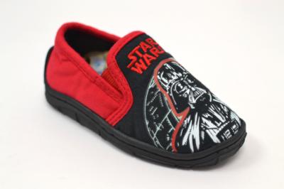 Star Wars Vadar Glow in the Dark Slipper -  Black/Red