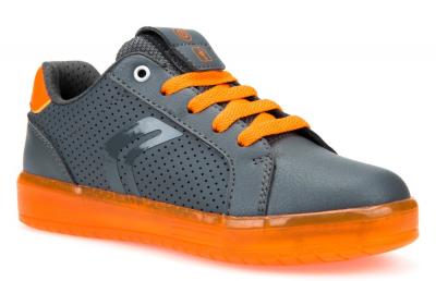 Geox J Kommodor Boy J745PB -  C1361 Dk Grey/Orange