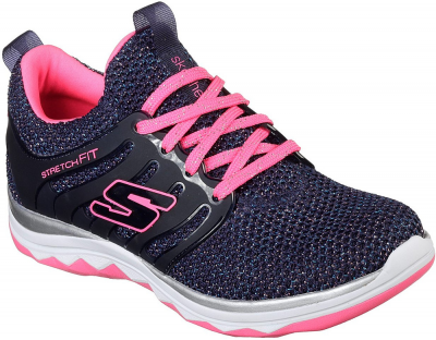 Skechers Diamond Runner Sparkle Sprint -  Navy/Pink