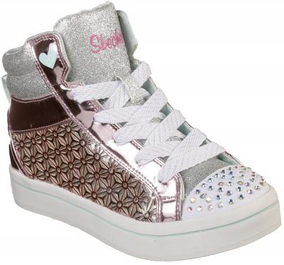 Skechers Twi-Lites Glitter Ups -  Pink/Silver