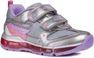 Geox J Android Girl J8445B -  C1335 Dk silver/Lilac