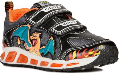 Geox J Shuttle Boy Pokemon J8294C -  C0038 Black/Orange