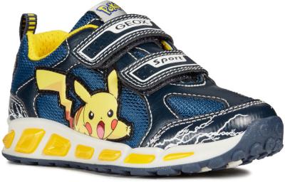 Geox J Shuttle Boy Pokemon J8294C -  C4054 Navy/Yellow