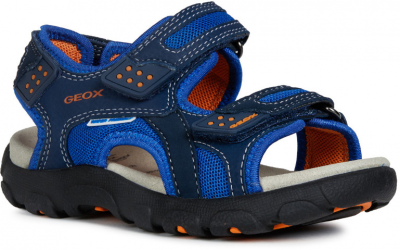 Geox J Sandal Strada J9224B -  C0659 Navy/Orange