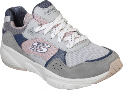 Skechers Meridian Charted  -  Grey Pink