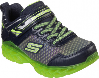 Skechers Flex Charge  -  Navy/Lime