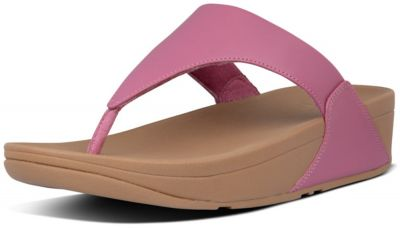 FitFlop Lulu Leather Toe-Post - Heather Pink