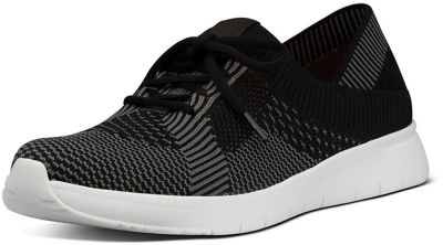 FitFlop Marbleknit Sneakers - Black/Charcoal Grey