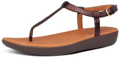 FitFlop Tia Toe-Thong Sandal - Chocolate Metallic