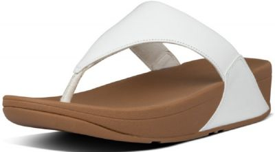 FitFlop Lulu Leather Toe Post - White