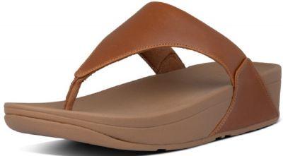 FitFlop Lulu Leather Toe Post - Light Tan