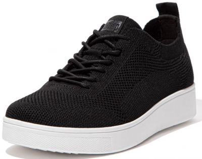 FitFlop Rally Tonal Knit Sneakers - Black