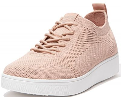 FitFlop Rally Tonal Knit Sneakers - Blush