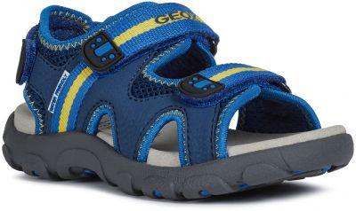 Geox J Sandal Strada J0224B - C0072 Blue/Yellow