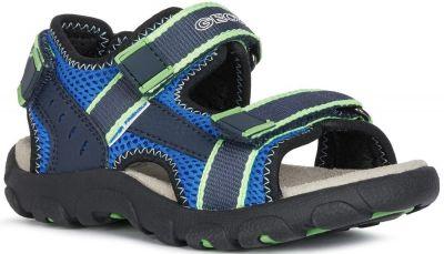 Geox J Sandal Strada J1524A - Blue/Fluo Green
