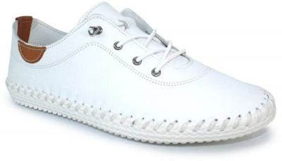 Lunar St Ives FLE030 - White Leather