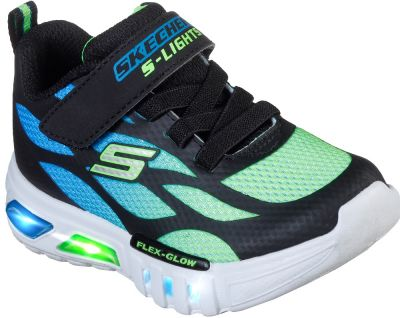 Skechers Flex-Glow - Dezlom - Black/Lime