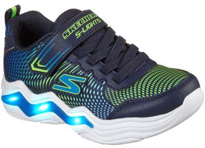 Skechers S Lights\Xae-Erupters Iv - Navy/Lime