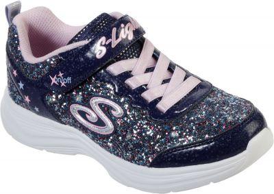 Skechers Glimmer Kicks Glitter N' Glow - Navy/Lavender