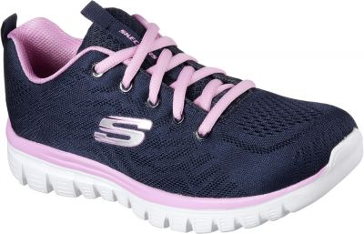 Skechers Graceful Get Connected - Navy/Pink