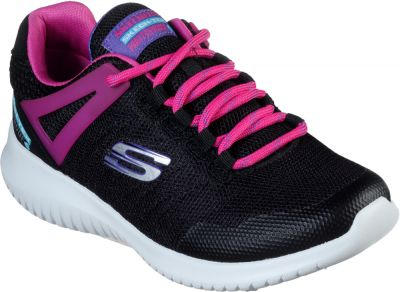 Skechers Ultra Flex Rainy Daze - Black/Hot Pink