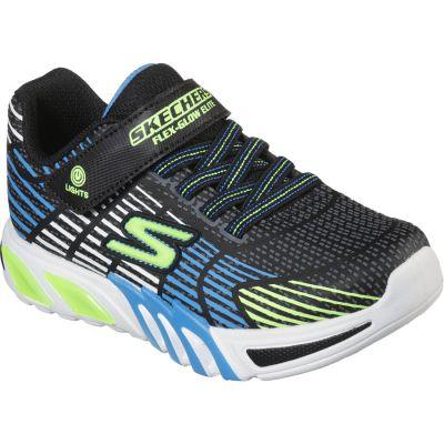 Skechers Flex-Glow Elite - Black Blue Lime