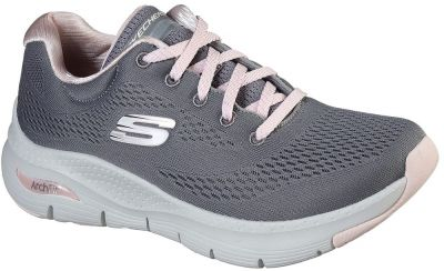 Skechers Arch Fit Sunny Outlook - Grey/Pink