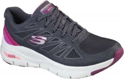 Skechers Arch Fit She'S Effortless - Charcoal/Pink