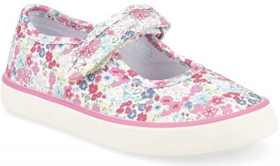 Start-Rite Blossom - Pink Floral Canvas
