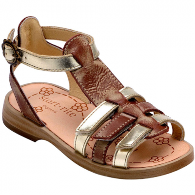 Start-rite PIA SANDAL -  Gold/Brown