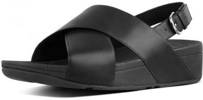 FitFlop Lulu Cross Back-Strap Sandal Leather -  Black