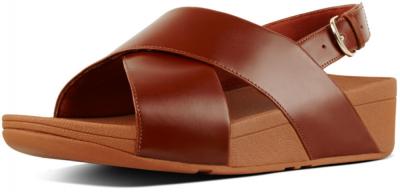 FitFlop Lulu Cross Back-Strap Sandal Leather -  Caramel