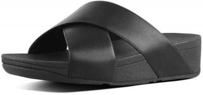 FitFlop Lulu Cross Slide Sandal -  Black