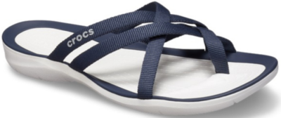 Crocs Swiftwater Webbing Flip W -  Navy/White