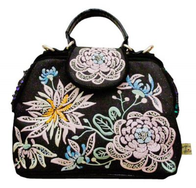 Irregular Choice Honey Suckle Bag -  Black