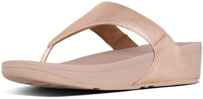FitFlop Lulu Leather Toe Post -  Rose Gold