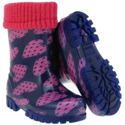 Term Welly with Sock -  Dot Heart